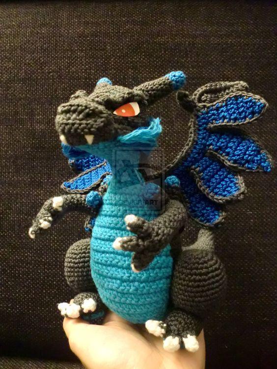 dragon realista crochet-otakulandia.es