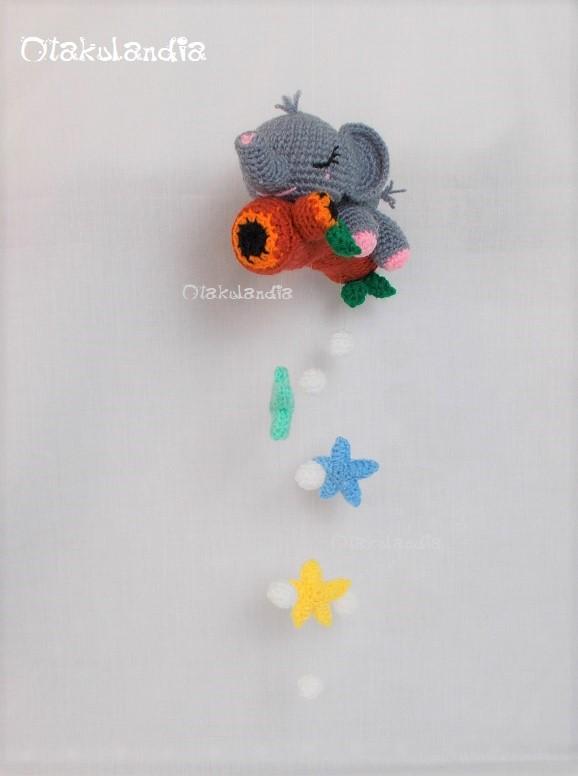 movil cuna elefantito dreems-crochet-otakulandia.shop