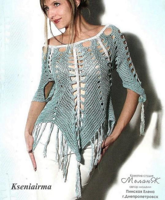 preciosa blusa calada crochet-esquema-otakulandia.es (1)