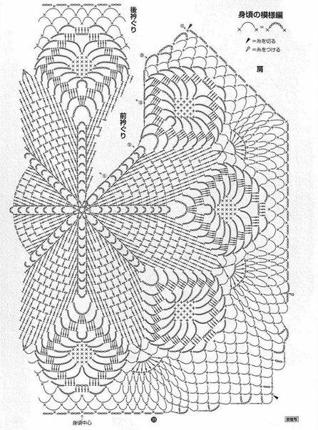 preciosa blusa calada crochet-esquema-otakulandia.es (11)