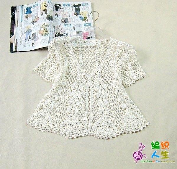 21 Preciosas Blusas Caladas en Crochet | Otakulandia.es