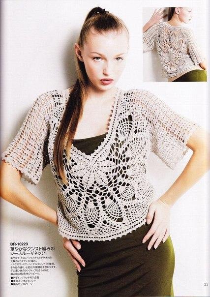 preciosa blusa calada crochet-esquema-otakulandia.es (33)