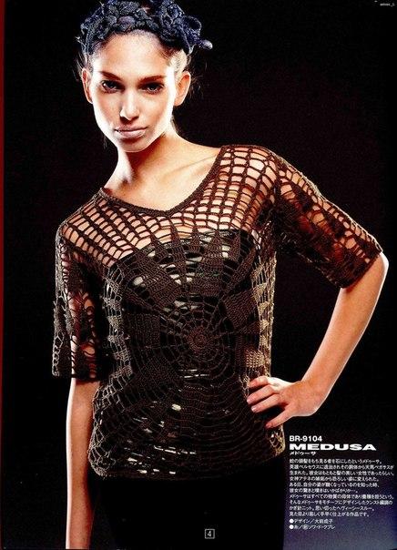 preciosa blusa calada crochet-esquema-otakulandia.es (6)