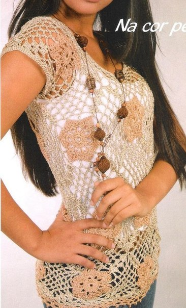 preciosa blusa calada crochet-esquema-otakulandia.es (7)