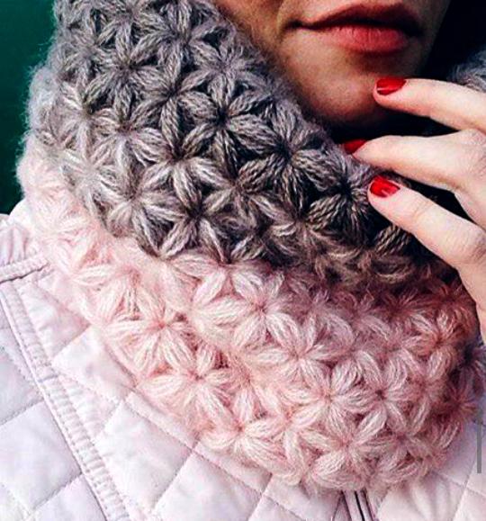 bufanda-punto-estrella crochet-esquema-otakulandia.es
