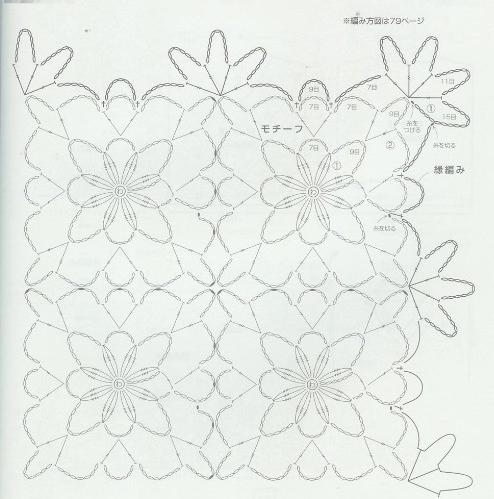 bufanda romantica crochet-graficos-otakuandia.es (2)