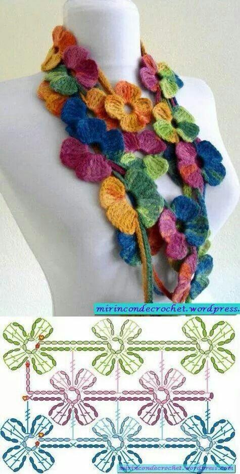 bufanda romantica crochet-graficos-otakuandia.es (4)