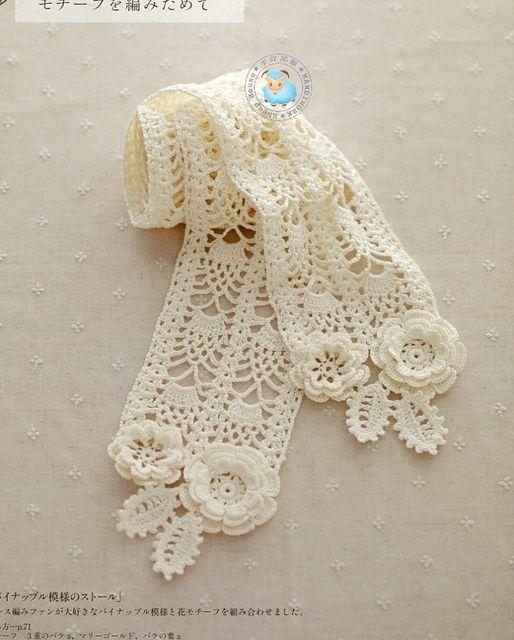 bufanda romantica crochet-patron-graficos-otakuandia.es (6)
