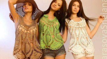 camiseta babero calada crochet-paso paso-otakulandia.es