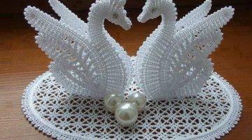 cisnes crochet-portaanillos boda-otakulandia.shop (1)