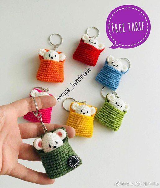 llaveros crochet ideas-otakulandia.es (3)
