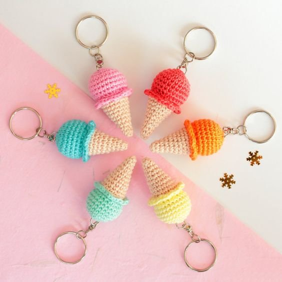 llaveros crochet-ideas-otakulandia.es
