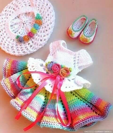 Lindos Mini Vestidos hechos en Lana 😍