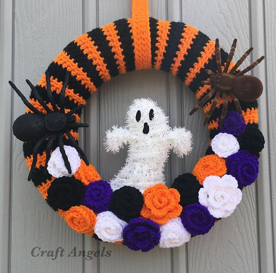 corona halloween crochet-otakulandia.es (1)