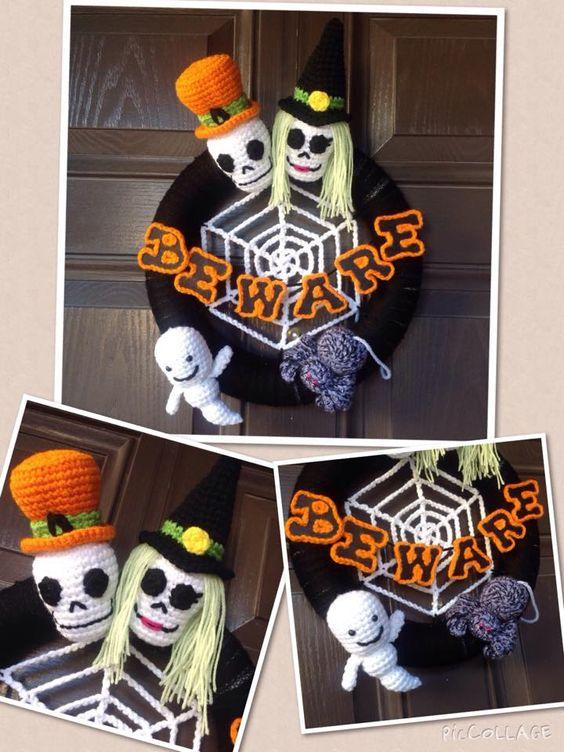 corona halloween crochet-otakulandia.es (7)