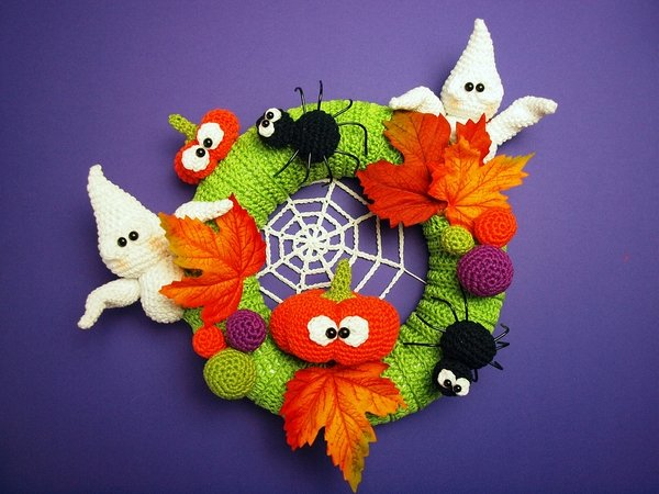 corona halloween crochet-otakulandia.es