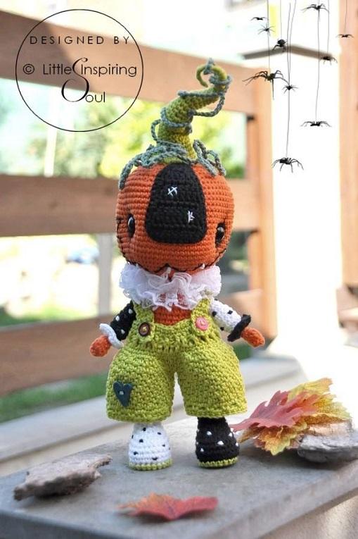 halloween calabaza amigurumi-otakulandia.es