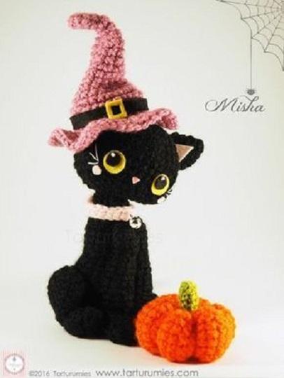 halloween gato negro amigurumi-otakulandia.es (1)