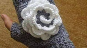 miton flor blanca crochet-paso paso-otakulandia.es (1)
