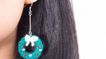 pendiente navidad crochet-otakulandia.es