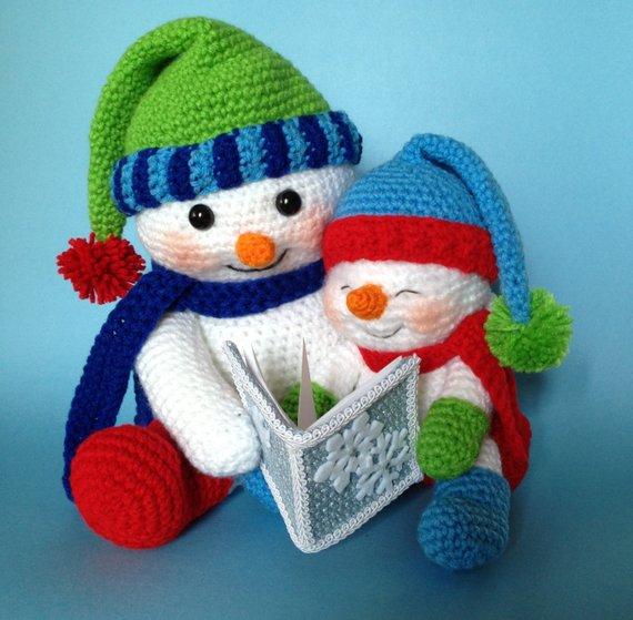 muneco nieve amigurumi navidad-otakulandia.es (1)