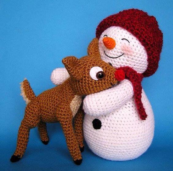 muneco nieve amigurumi navidad-otakulandia.es (2)