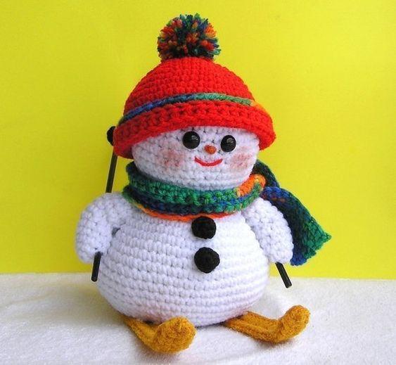 muneco nieve amigurumi navidad-otakulandia.es (4)