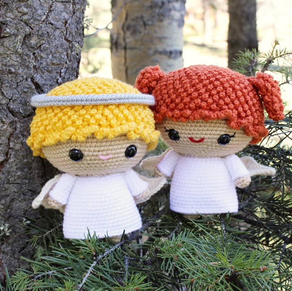 navidad angelitos crochet-otakulandia.es