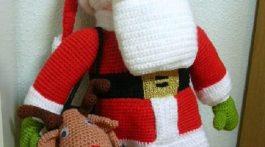 papa noel crochet-otakulandia.es