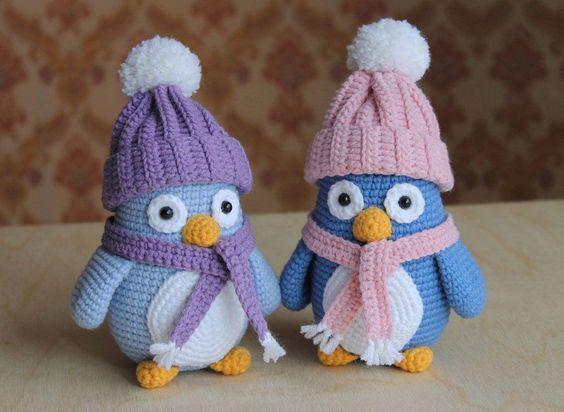 pinguinos amigurumis-otakulandia.es